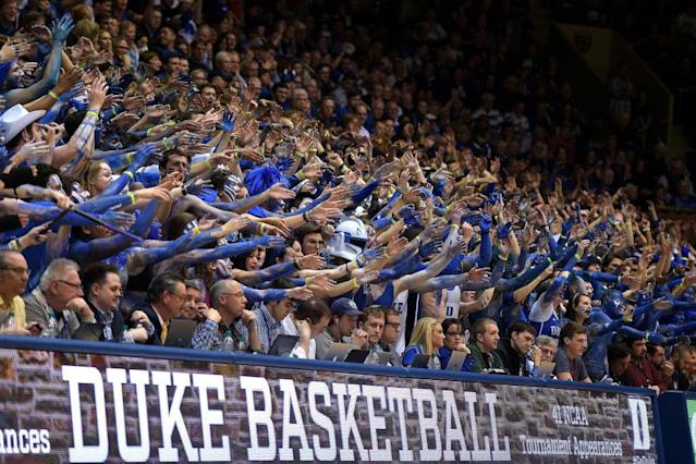 The Cameron Crazies at work. (Getty)