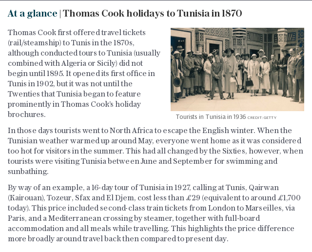At a glance | Thomas Cook holidays in Tunisia in 1870