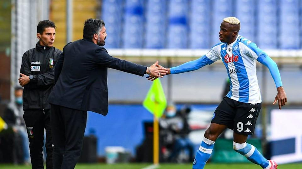 Gattuso e Osimhen | Getty Images/Getty Images