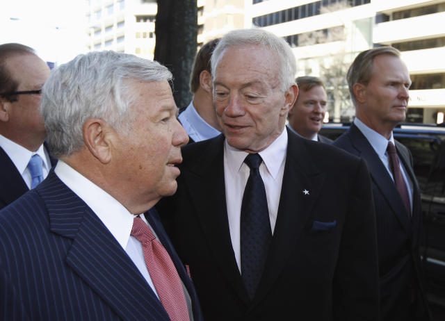 Two of the biggest owners in the NFL are joining Trump's committee. (AP Photo/Alex Brandon)