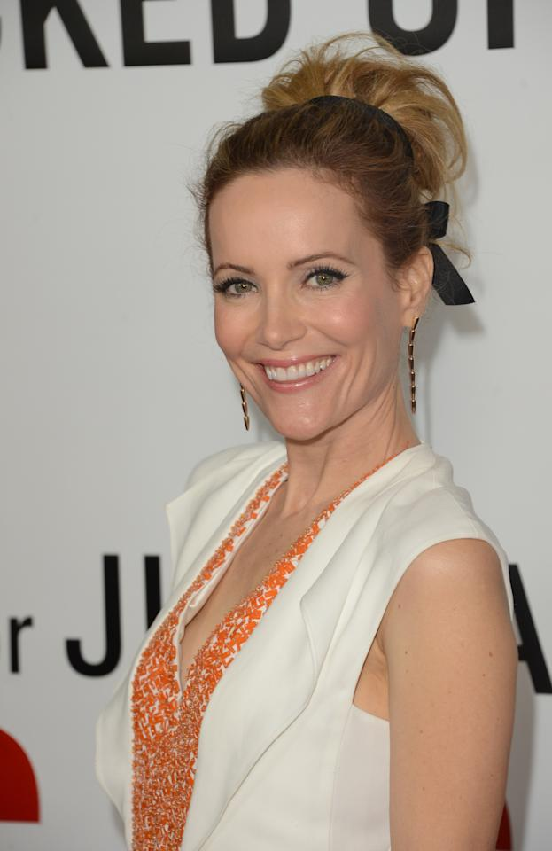 "HOLLYWOOD, CA - DECEMBER 12:  Actress Leslie Mann attends the premiere of Universal Pictures' ""This Is 40"" at Grauman's Chinese Theatre on December 12, 2012 in Hollywood, California.  (Photo by Jason Merritt/Getty Images)"