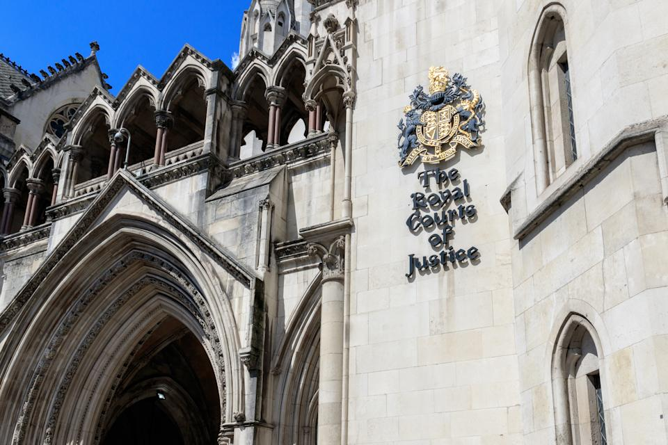 Exterior of the Royal Courts of Justice in London, commonly called the Law Courts
