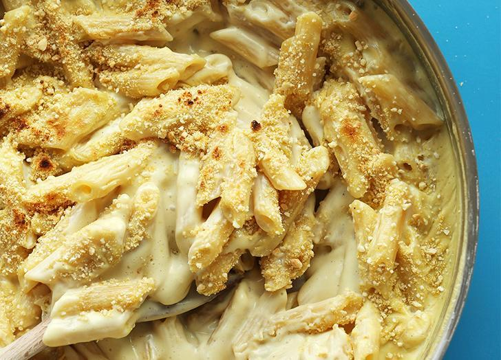 """<h2>13. Vegan Gluten-Free Mac 'n' Cheese</h2> <p>Yes, you read that correctly—dairy-free mac and cheese. We believe in miracles!</p> <p><a class=""""link rapid-noclick-resp"""" href=""""https://minimalistbaker.com/best-vegan-gluten-free-mac-n-cheese/"""" rel=""""nofollow noopener"""" target=""""_blank"""" data-ylk=""""slk:Get the recipe"""">Get the recipe</a></p>"""
