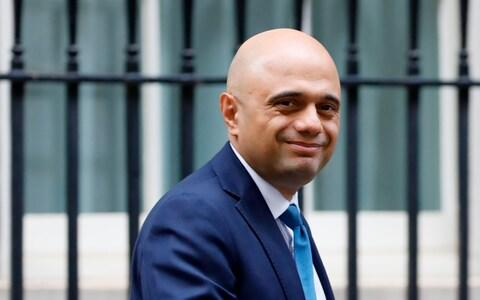 <span>Mr Javid is the first senior minister from the Johnson government to hold face-to-face talks with his German counterpart</span> <span>Credit: TOLGA AKMEN/AFP </span>