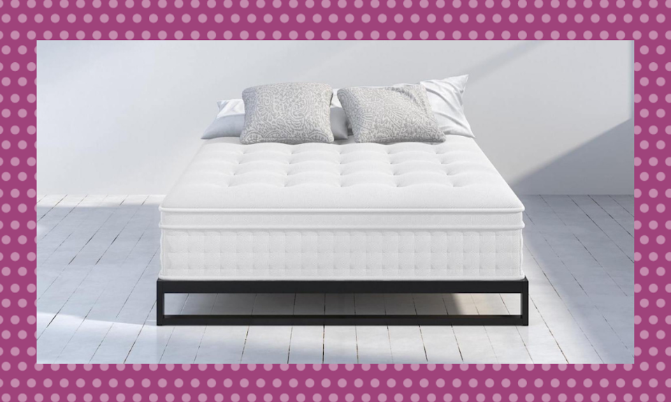 Score a new mattress for 37 percent off! (Photo: Zinus)