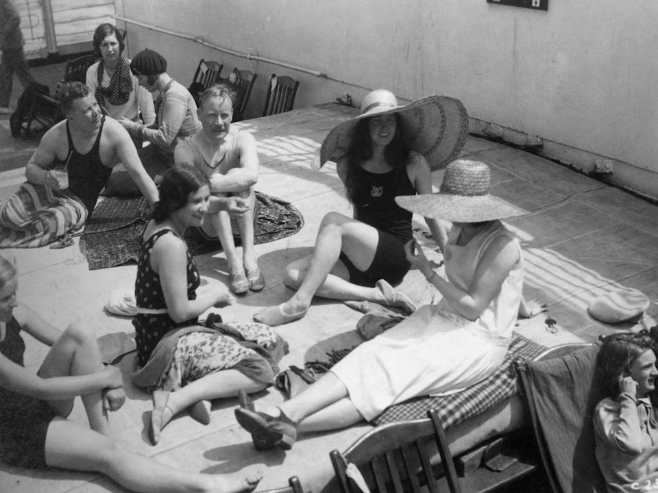 Women on a cruise ship in 1920.