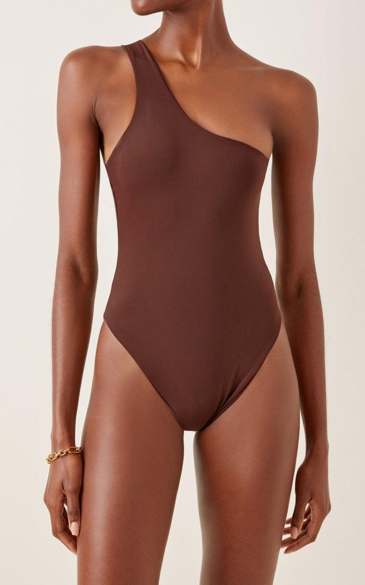 <p>This <span>Aexae One Shoulder One-Piece</span> ($140) is seemingly modest yet undeniably sexy.</p>