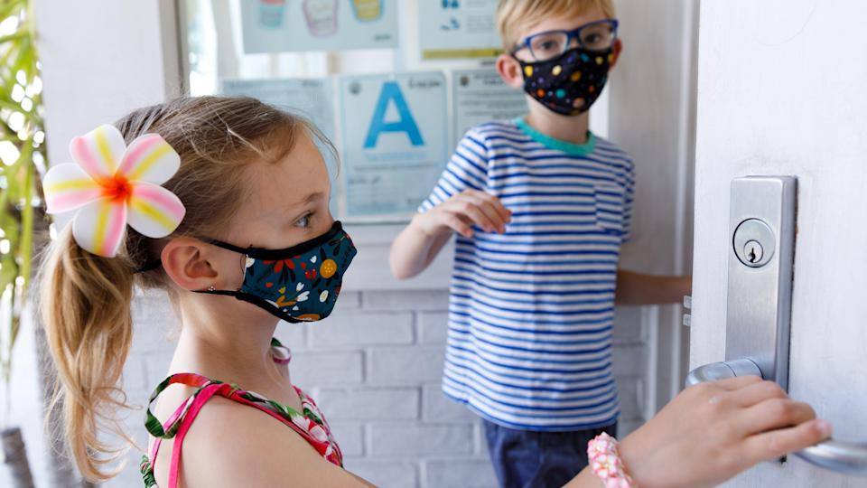 The Vistaprint masks are comfortable for all-day wear and fit kids' faces exceptionally.
