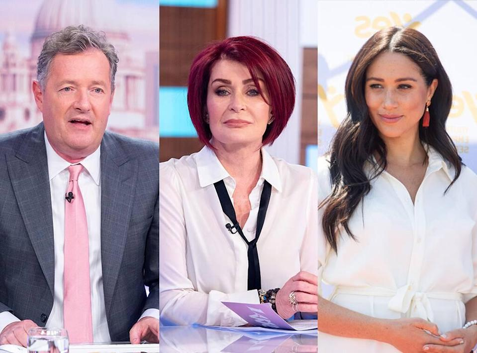 Piers Morgan, Sharon Osbourne, Meghan Markle