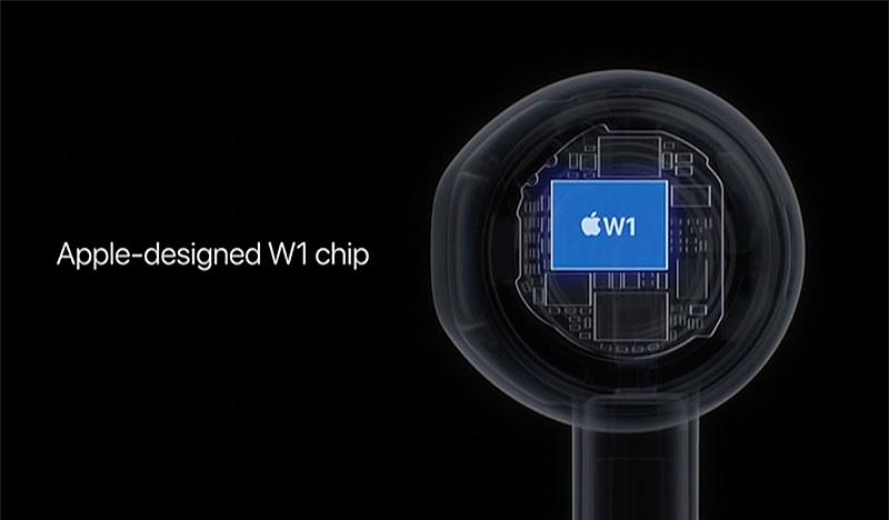 The W1 is Apple's first wireless chip.