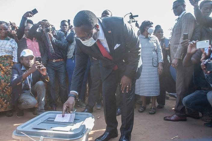 Malawi Congress Party leader Lazarus Chakwera heads the opposition coalition