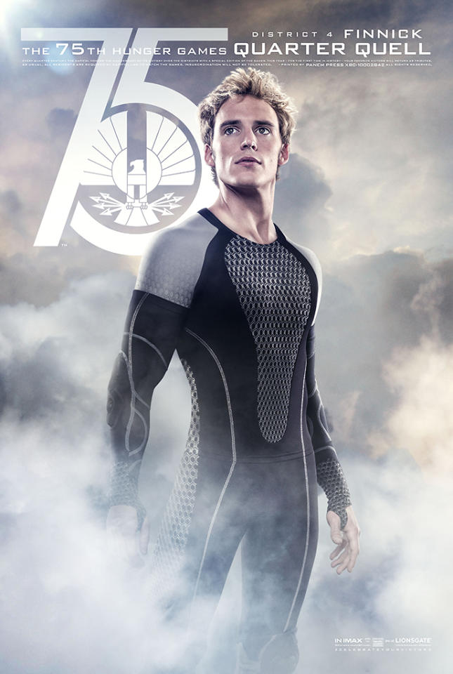 """Sam Claflin as Finnick in Lionsgate's """"The Hunger Games: Catching Fire"""" - 2013"""