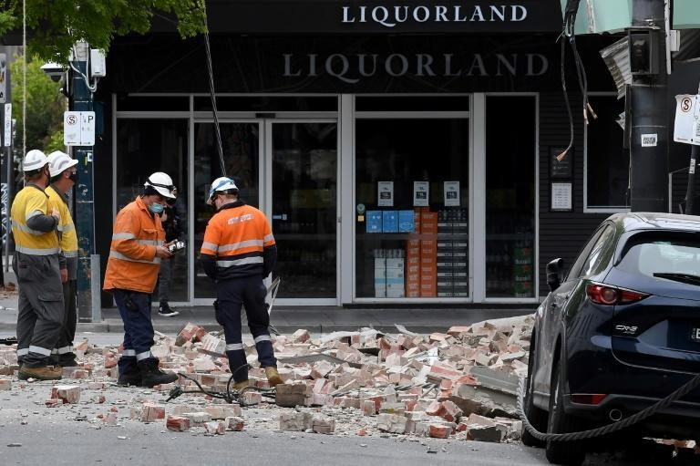 A shallow quake shook southeastern Australia, sending panicked residents running into the streets (AFP/William WEST)