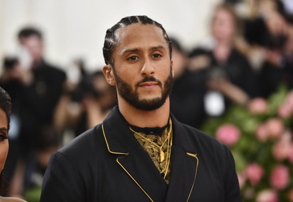 Colin Kaepernick attends The Metropolitan Museum of Art's Costume Institute benefit gala celebrating the opening of the