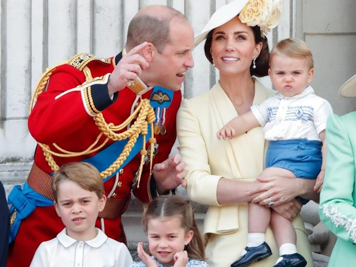 royals at trooping the colour 2019