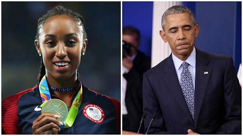 Obama meeting contributed to Olympic champion Rollins' ban