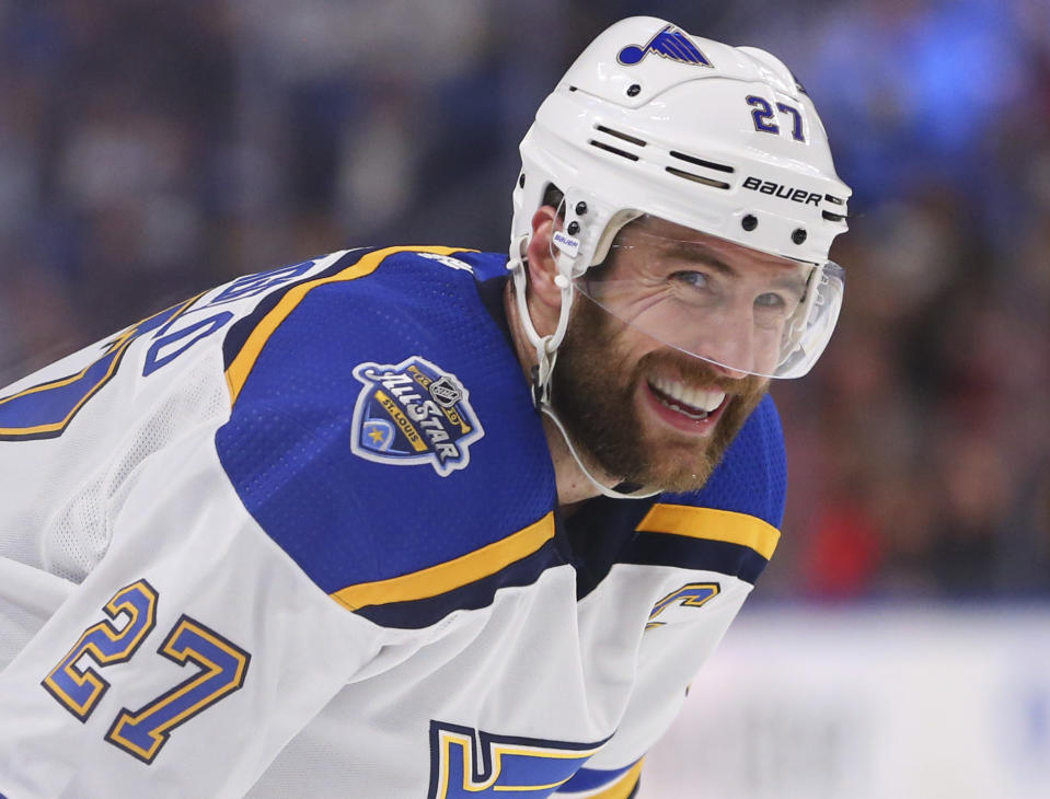 St. Louis Blues defenseman Alex Pietrangelo (27)