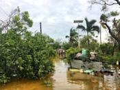 The aftermath of cyclone Gita is seen in Nuku'alofa, Tonga, February 13, 2018 in this picture obtained from social media. Twitter Virginie Dourlet/via REUTERS
