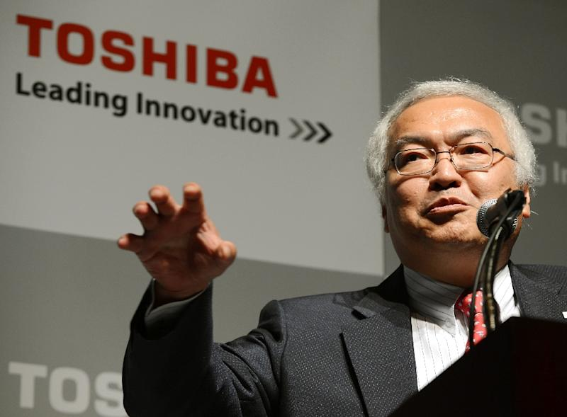 Norio Sasaki served as Toshiba president between June 2009 and June 2013, covering most of the period during which the company inflated the profits (AFP Photo/Toshifumi Kitamura)