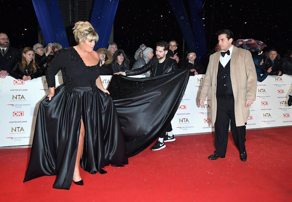 LONDON, ENGLAND - JANUARY 22:  Gemma Collins and James Argent attend the National Television Awards held at The O2 Arena on January 22, 2019 in London, England.  (Photo by Karwai Tang/WireImage)