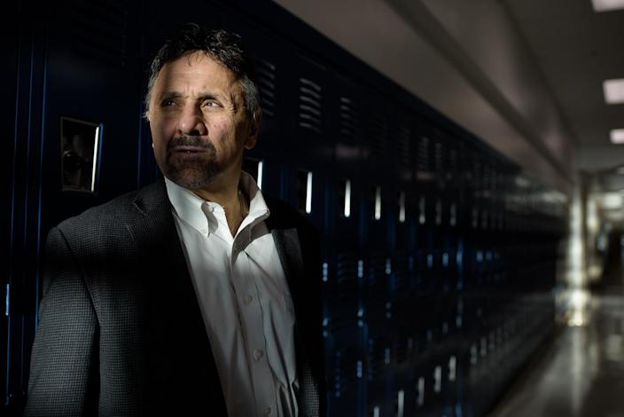 Frank DeAngelis, the principal of Columbine when the shootings occurred, photographed at the school in Dec. 2017. (Photo: Carl Bower for Yahoo News)
