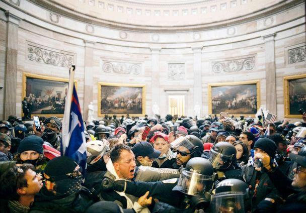 PHOTO: Police clash with supporters of President Donald Trump who breached security and entered the Capitol building in Washington Jan. 06, 2021. (Anadolu Agency via Getty Images, FILE)