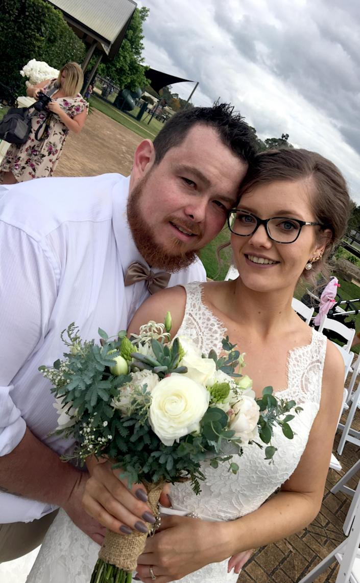 Breanna North and her husband Tye lost a whopping 23 stone 13lbs between them [Photo: Caters News Agency]