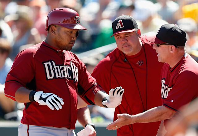 New Cuban import Yasmany Tomas didn't have a great spring for Arizona. (Getty Images)