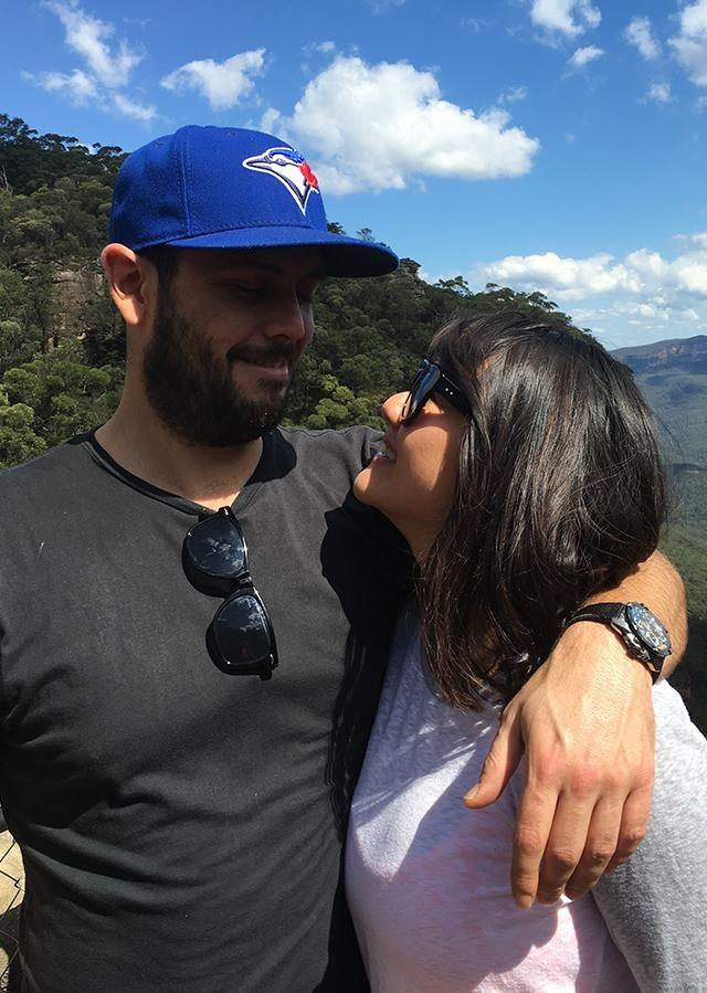 Just one year after meeting the pair got engaged. Photo: Supplied