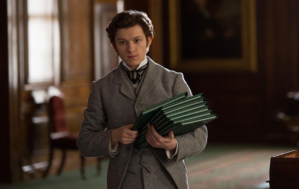 Tom Holland ditches the Spider-Man suit for something a little less spandexy. (Entertainment Film)