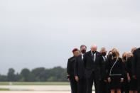 U.S. President Joe Biden attends the dignified transfer of the remains of U.S. Military service members who were killed by a suicide bombing at the Hamid Karzai International Airport