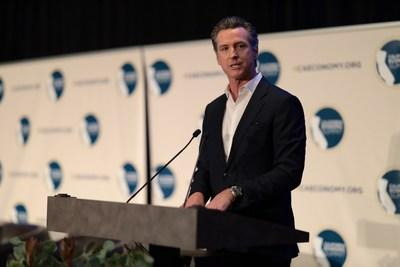 Governor Gavin Newsom addresses more than 900 public, private and civic leaders at the 2019 California Economic Summit on Nov. 8 in Fresno, CA. (Photo: David Jon/CA Fwd)