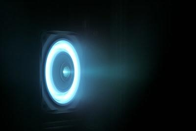 Busek BHT-6000 Hall effect thruster. Four such units will provide manueverability for the Power and Propulsion Element of Nasa's Gateway in lunar orbit.