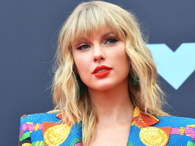 Taylor Swift arrives for the 2019 MTV Video Music Awards in Newark, New Jersey on 26 August, 2019: JOHANNES EISELE/AFP/Getty Images