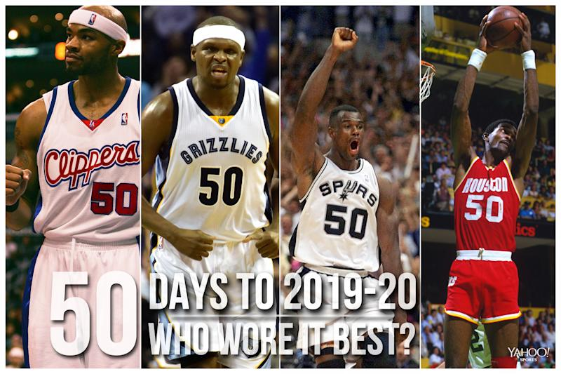 Which NBA player wore No. 50 best?