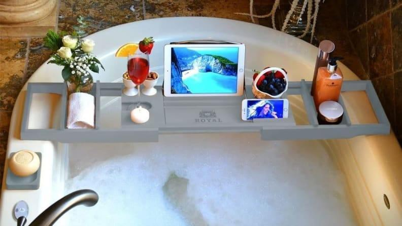 Best self-care gifts: Bath caddy tray