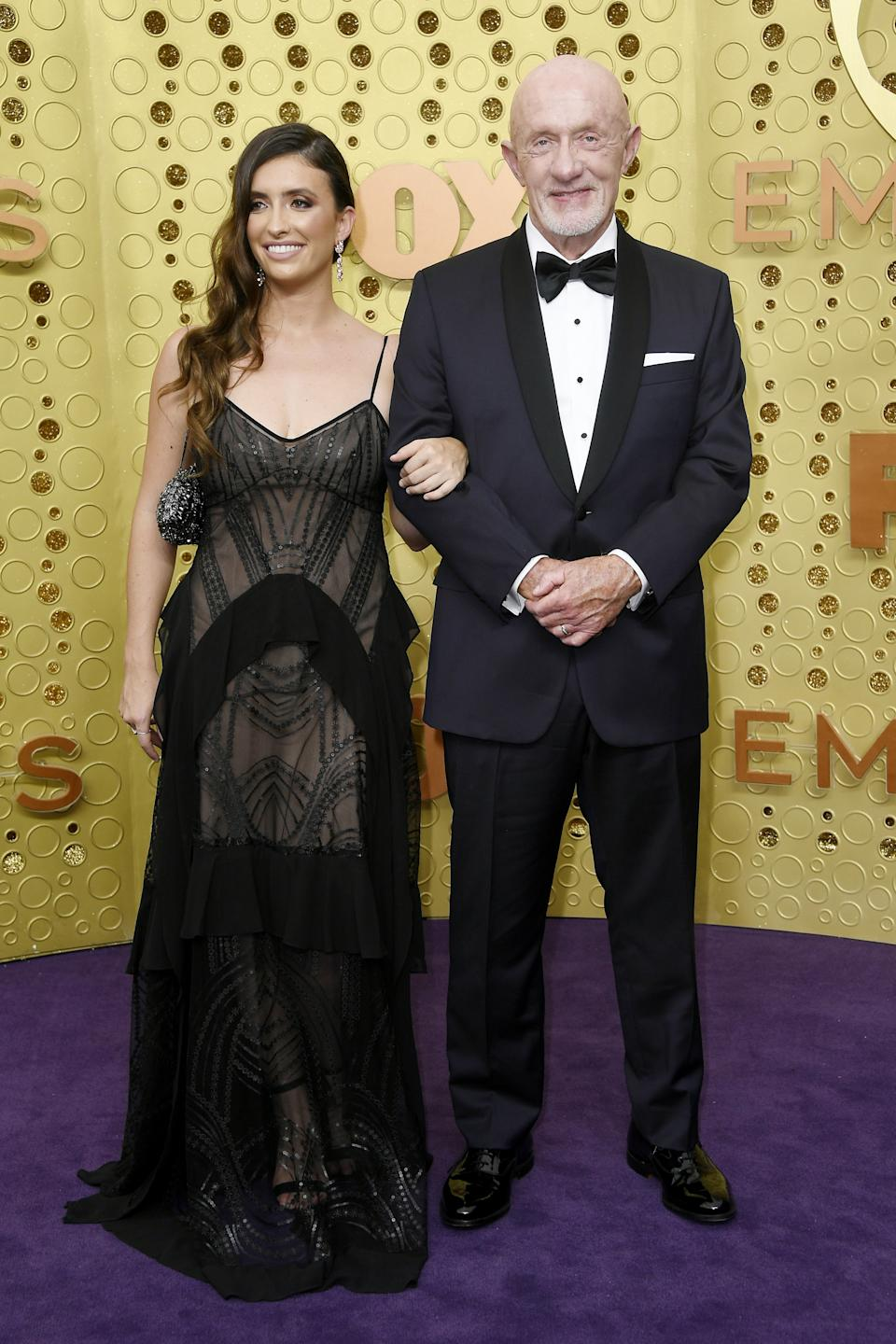 """<h1 class=""""title"""">Rebecca Elena Banks and Jonathan Banks in Brooks Brothers</h1><cite class=""""credit"""">Photo: Getty Images</cite>"""