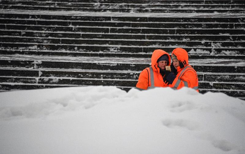 Moscow's long winters see a small army of snow-clearing teams keeping the city moving (AFP Photo/Alexander NEMENOV)