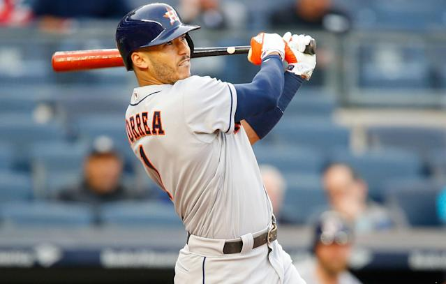 With his 52 homers, Carlos Correa is the leader among active 22-year-olds. (Getty Images)