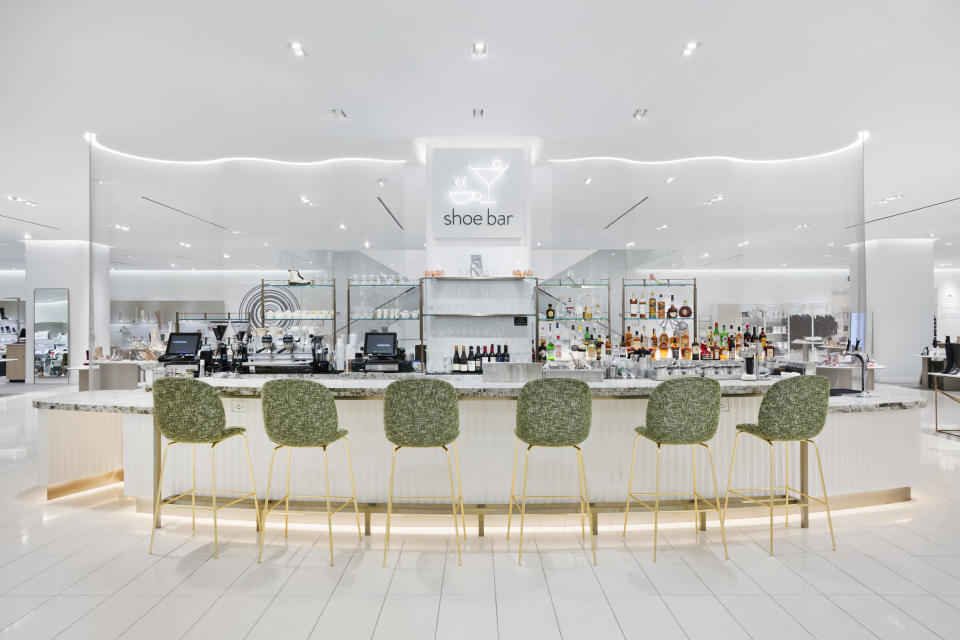 Shoe Bar is Nordstrom's cocktail bar located on the shoe floor. - Credit: Courtesy Image.