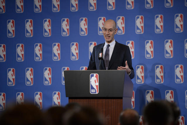 "After long upholding the value of the NBA schedule as it's existed for years, NBA Commissioner Adam Silver now says there's ""nothing magical"" about an 82-game calendar. (Getty Images)"