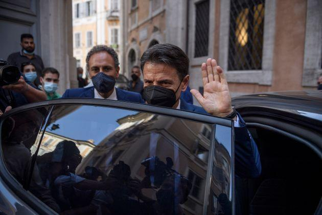 ROME, ITALY - JUNE 28: Former Prime Minister Giuseppe Conte attends a press conference to discuss his role in the FIve-Star Movement (M5S), on June 28, 2021 in Rome, Italy. (Photo by Antonio Masiello/Getty Images) (Photo: Antonio Masiello via Getty Images)