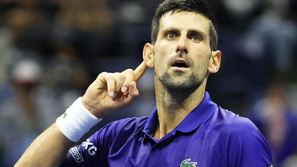 After dropping the first set in the quarter final against Matteo Berrettini, Novak Djokovic put on an absolute masterclass to move on to the US Open semi-final. (Photo by Elsa/Getty Images)