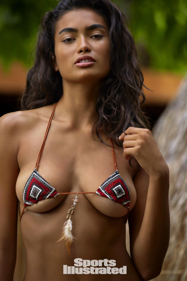 "<p>Kelly Gale was photographed by James Macari in Sumba Island. Swimsuit by <a href=""http://www.shophausofpinklemonaid.com"" rel=""nofollow noopener"" target=""_blank"" data-ylk=""slk:HAUS OF PINKLEMONAID"" class=""link rapid-noclick-resp"">HAUS OF PINKLEMONAID</a>.</p>"