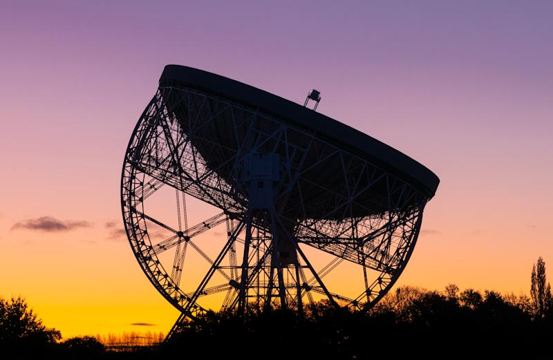Sunrise at the Lovell Telescope at Jodrell Bank has been a familiar feature of the Cheshire landscape for over 50 years - a UNESCO World Heritage Site. Radio Telescope Centre for Astrophysics at the University of Manchester.