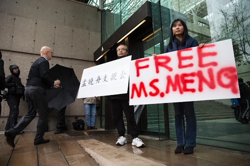 Meng's case has sparked a major crisis between Beijing and Ottawa, which is accused of doing Washington's bidding (AFP Photo/Jason Redmond)