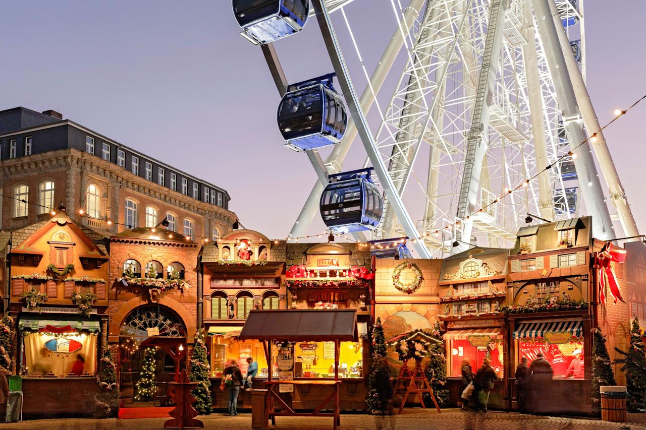 "<p><strong>Why we love it:</strong> Düsseldorf's <a href=""https://www.duesseldorf-tourismus.de/en/our-top-events/duesseldorf-christmas-market/"">Christmas market</a> is actually made up of eight themed markets within walking distance of each other, which means that during the holidays, the city's entire downtown core turns into a veritable Weihnachtsmarkt. One of the most popular is the Art Nouveau-themed Engelchen-Markt on Heinrich-Heine-Platz, whose market huts feature golden-winged angels and bright white lights. Another, <a href=""https://www.weihnachten-in-duesseldorf.de/weihnachtsmarkt_am_rathaus_marktplatz.php"">Weihnachtsmarkt am Rathaus</a> on Marktplatz, is known for its handicrafts. Look for glass-blowers, blacksmiths, and woodworkers practicing their trades.</p> <p><strong>When:</strong> November 21 to December 30</p>"