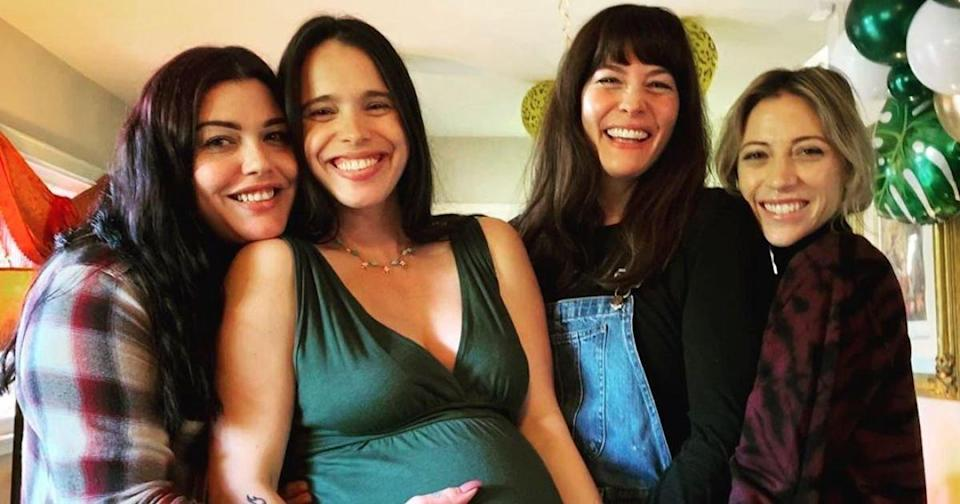 Pregnant Chelsea Tyler Celebrates Baby Shower with Sisters Liv and Mia, Dad Steven's Girlfriend
