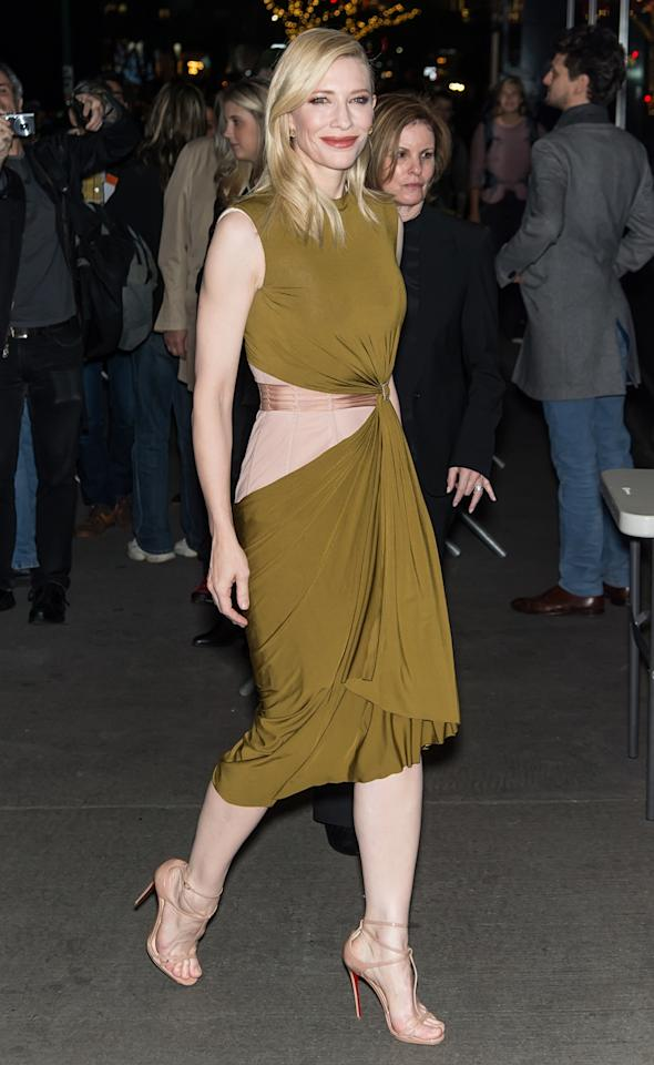 "<p>For the same event, Blanchett chose a gown from Lanvin's spring 2016 collection — in tribute to the <a href=""https://www.yahoo.com/style/alber-elbaz-is-leaving-lanvin-145609933.html"">recently-ousted Alber Elbaz</a>, perhaps?<i> Photo: Getty</i></p>"