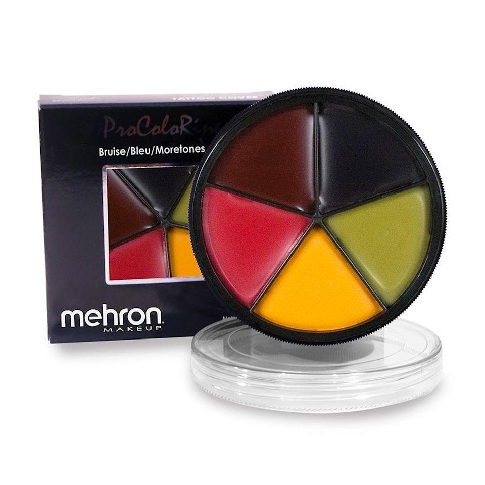 """<p><strong>Mehron</strong></p><p>amazon.com</p><p><strong>$14.42</strong></p><p><a href=""""https://www.amazon.com/dp/B002KV5JQW?tag=syn-yahoo-20&ascsubtag=%5Bartid%7C10051.g.34161924%5Bsrc%7Cyahoo-us"""" rel=""""nofollow noopener"""" target=""""_blank"""" data-ylk=""""slk:Shop Now"""" class=""""link rapid-noclick-resp"""">Shop Now</a></p><p>This small color wheel helps you create everything from a boxer's bruised knuckles to brutal zombie scars.</p>"""